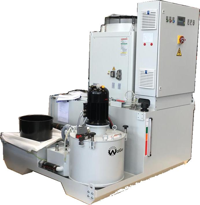 Система фильтрации масла или СОЖ для притирочно полировального станка